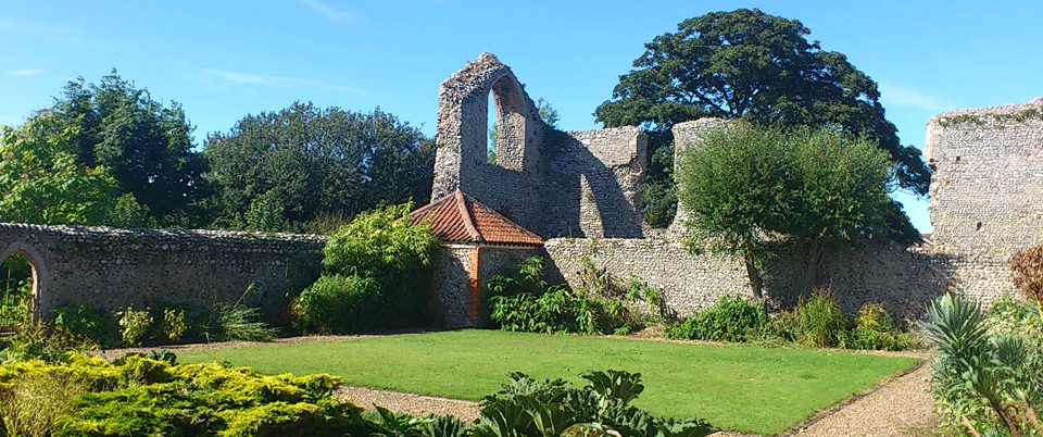Beeston Priory ruins at Abbey Farm Holiday Cottages Norfolk