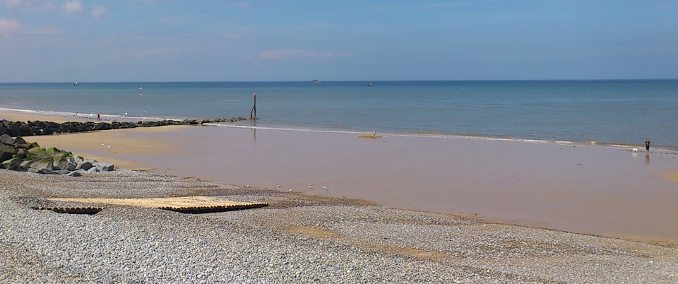 Sheringham beach near abbey farm holiday cottages beeston Norfolk
