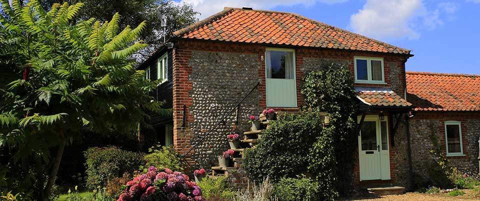 Granary cottage at Abbey Farm Cottages in Norfolk
